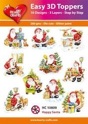 HC10809  3-D Toppers Happy Santa