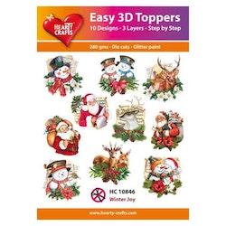 HC10846  3-D Toppers Winter Joy