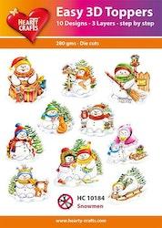 HC10184  3-D Toppers Snowmen