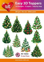 HC10252  3-D Toppers Christmas Trees