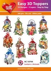 HC10794  3-D Toppers Lantern + Animals