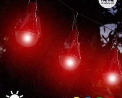 Solcellsglödlampa (4-pack)