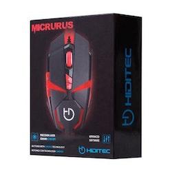 Gaming Mus Hiditec Micrurus 8100 dpi Svart Röd
