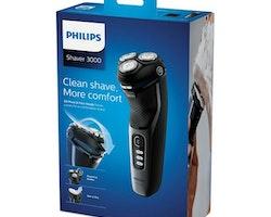 Elektriskt laddad rakapparat Philips Wet&Dry S3231/52 Svart