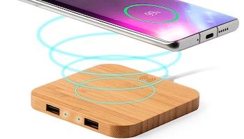 Qi Trådlös Laddare till Smartphones Bambu 146542