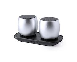 Trådlösa Bluetooth högtalare USB 6W Silvrig 146054