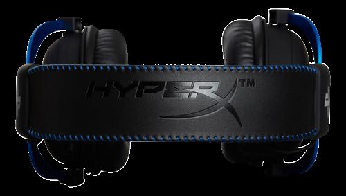 HyperX Cloud Headset For PS4, in-line kontroll, avtagbar brusreducerande mikrofon, svart/blå