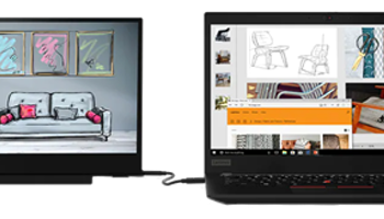 "Lenovo ThinkVision M14, FHD, IPS, 14"", svart"