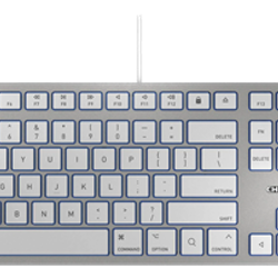 Cherry Tangentbord KC 6000 Slim för Mac, nordisk layout, silver