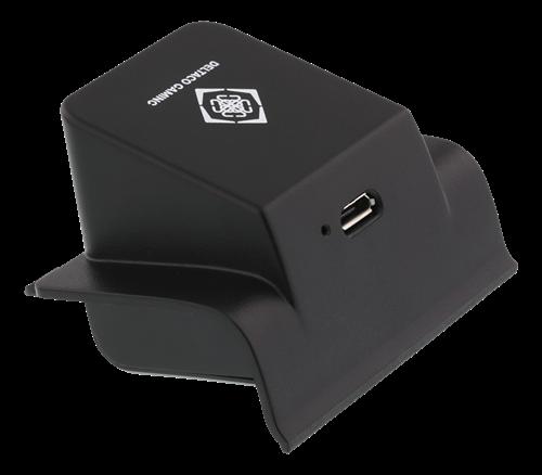 DELTACO GAMING trådlös mottagare med inbyggt batteri för trådlös laddning till Xbox One kontroll, svart