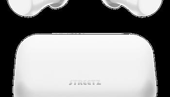 STREETZ Trådlösa in-ear hörlurar med laddningetui, BT 5, TWS, vit