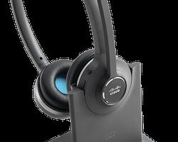Cisco 562 Wireless Dual - Headset - på örat - DECT 6.0 - trådlös - med Standard Base Station
