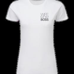 Dam T-shirt • Wife Mom Boss LITET TRYCK