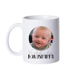 Mugg • Vi älskar dig BONUSPAPPA - egen bild
