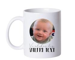 Mugg • Vi älskar dig VALFRI TEXT - egen bild