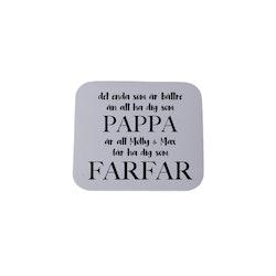 Magnet, 5x5cm • Farfar/Morfar