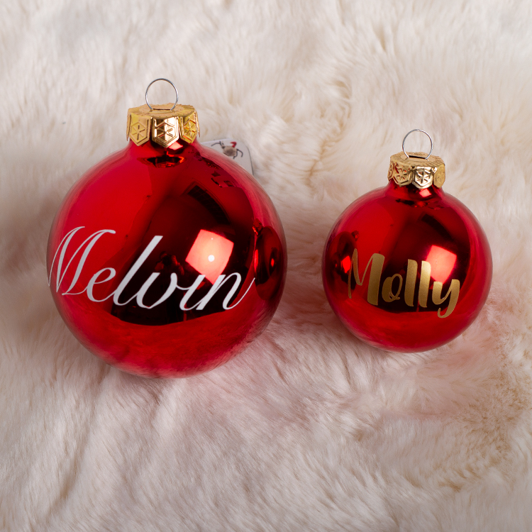 Egen dekor • Namn/ord till julkulor