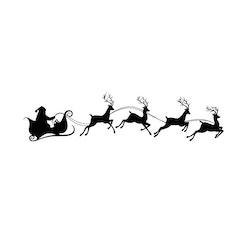 Väggdekor • Jultomte med Renar