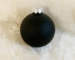 Julkula 8 cm, matt svart • Namntryck