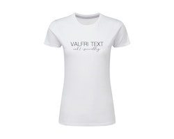 Dam T-shirt • Valfri Text