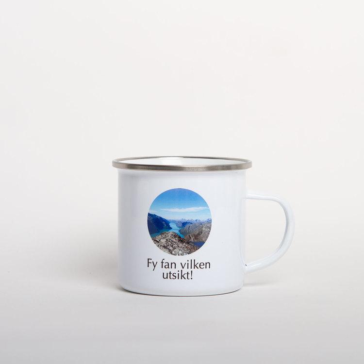 Emaljmugg • Valfri text & bild