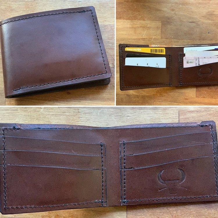 """Plånbok - """"vikbar"""" med DIF Boxnings logga"""