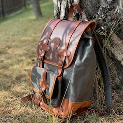 "canvas/Leather Backpack ""Dakota"""