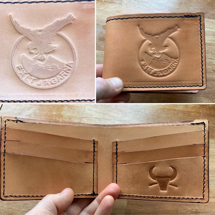 Plånbok - vikbar Fältjagare