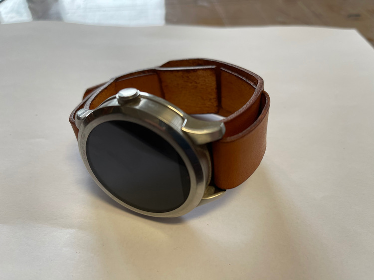 Klockarmband i läder