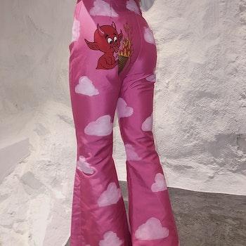 Hot Ass Hell Satin Pants Pink