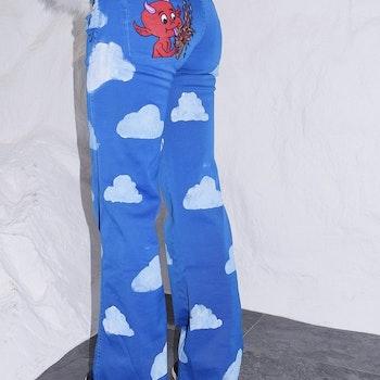 Hot Ass Hell Jeans Blue