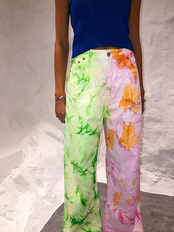 Tie Dyed Watermelon Jeans