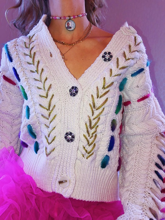 Crazy Grandma vol.1 Knitted Cardigan