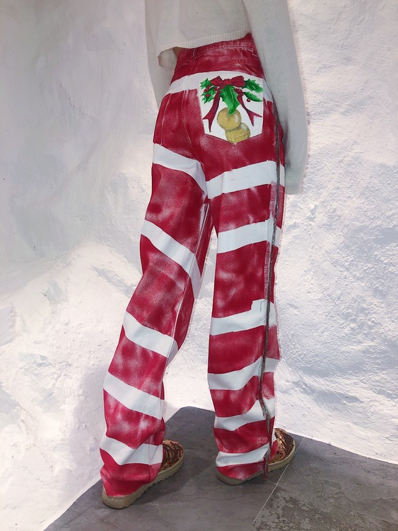 Candy Cane Mess Jeans