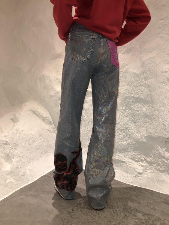 Girl with skeletons in her closet Jeans, silver