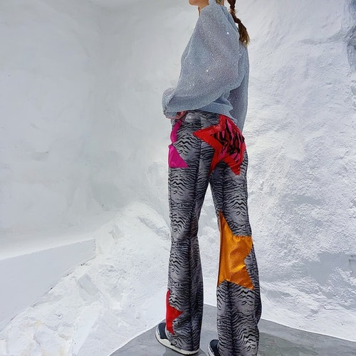 Rare Zebra Species PU-leather pants