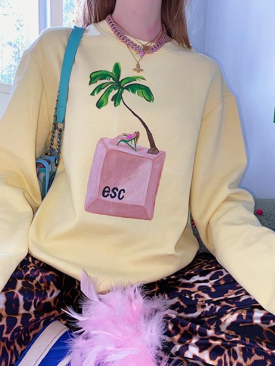 Press Escape Sweater, yellow