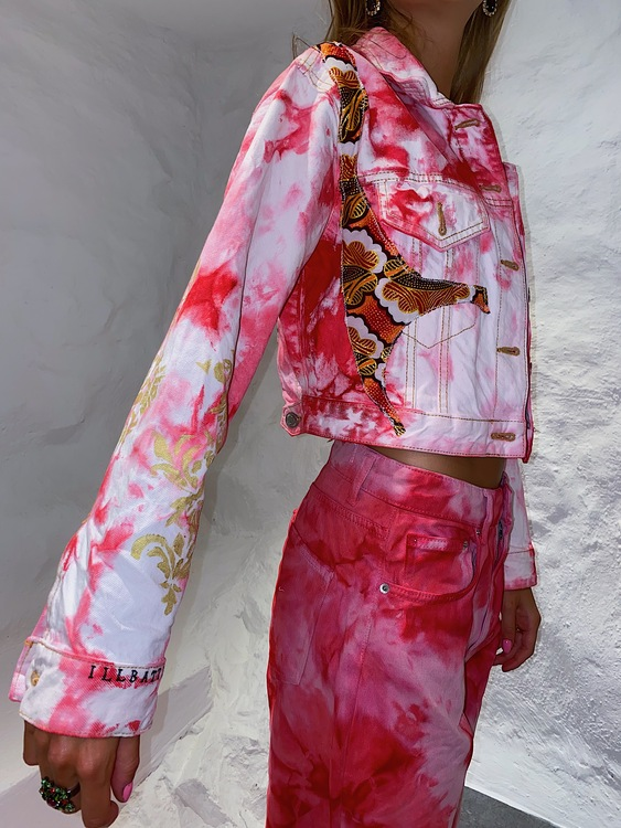 Extravagant Pink Denim Jacket
