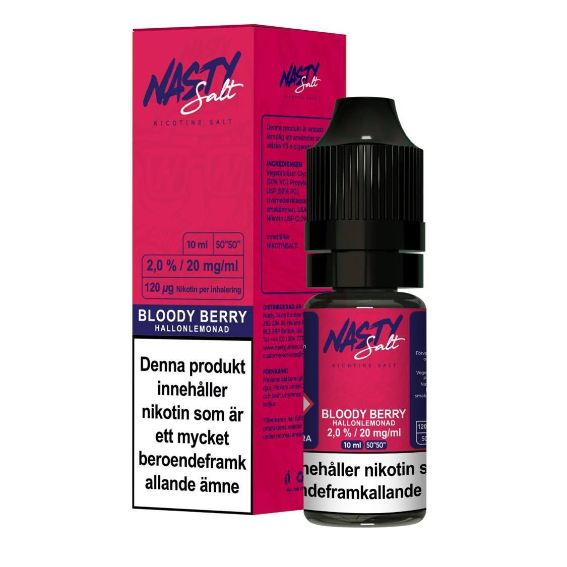 Nasty Juice - Bloody Berry (10ml, 20mg nikotinsalt)