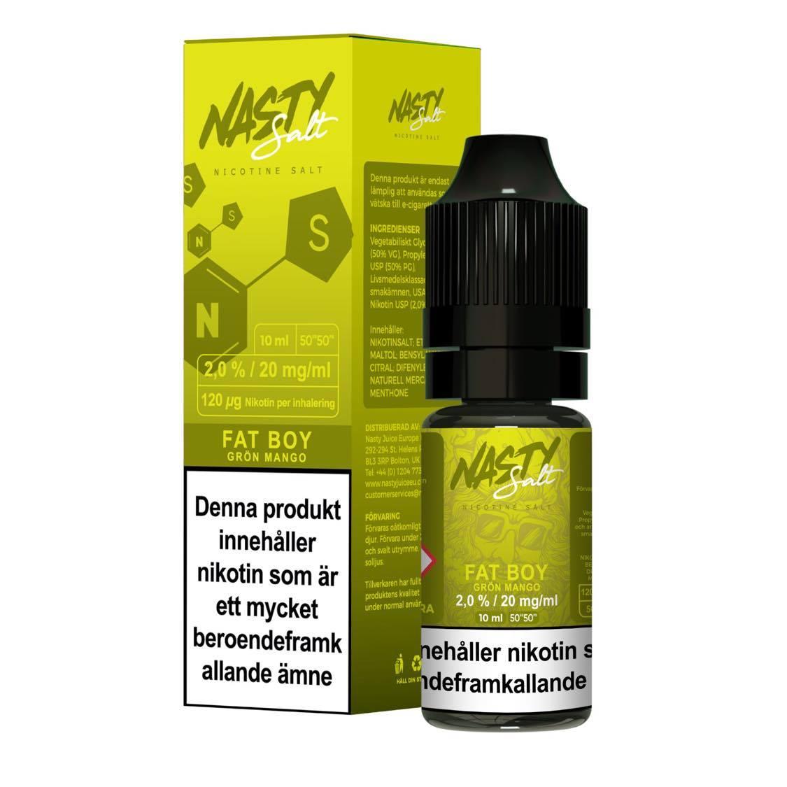 Nasty Juice - Fat Boy (10ml, 20mg nikotinsalt)