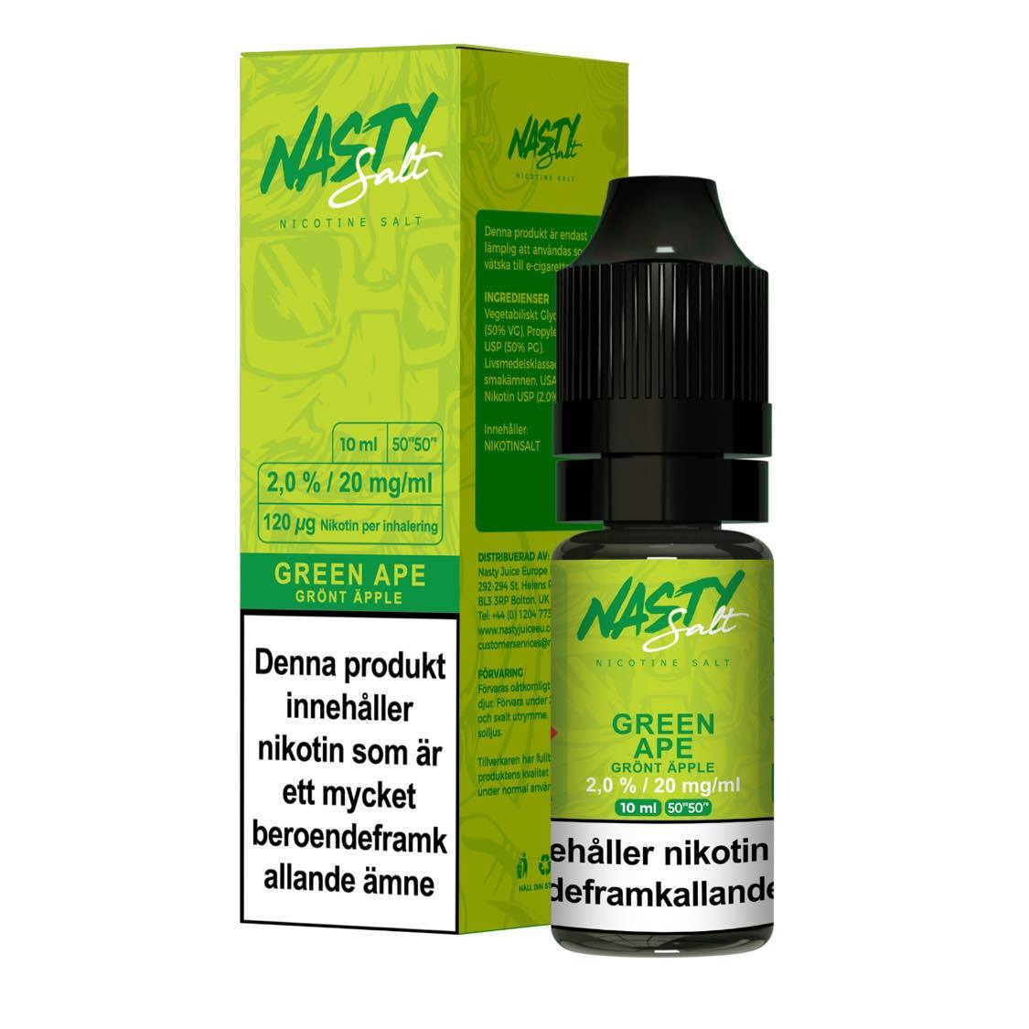 Nasty Juice - Green Ape (10ml, 20mg nikotinsalt)