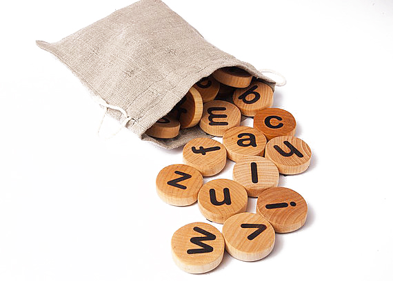 Bokstäver magneter (Handgjorda)