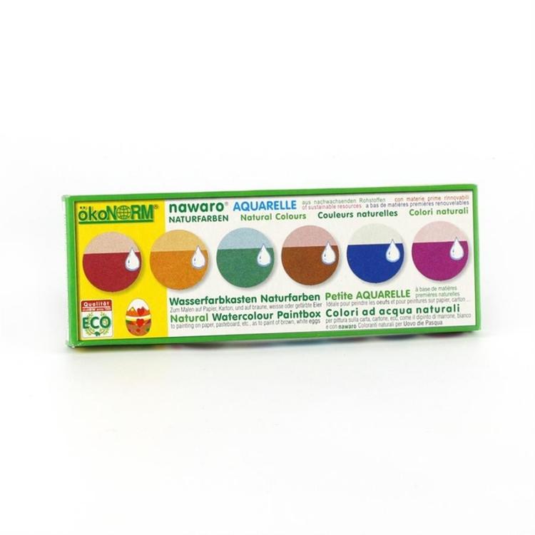 Vattenfärg eko paket med 6 färger (Ökonorm)