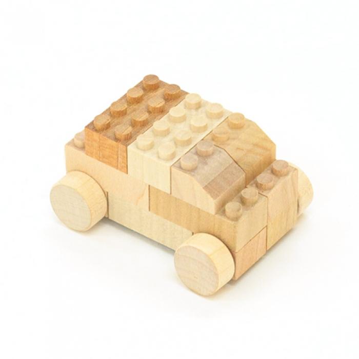Träbyggklossar bil (Mokulock)