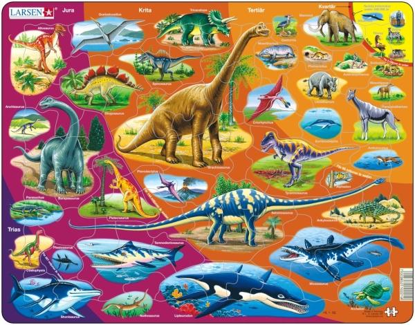 Dinosauriepussel 85 bitar (Larsen)