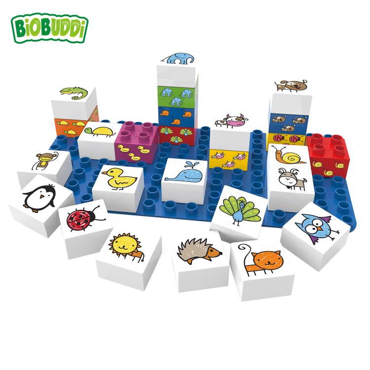 Biobyggklossar djur (Biobuddi)