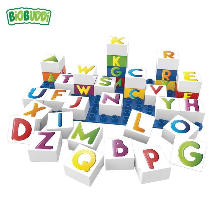Bioklossar med bokstäver (Biobuddi)