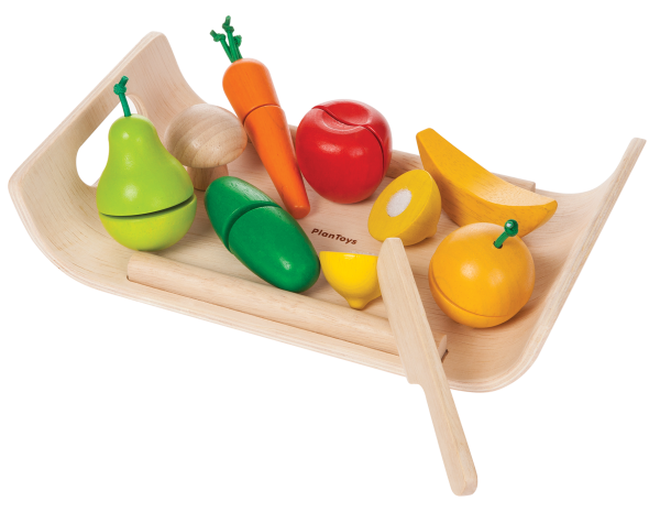 Frukter och grönsaker delbara (Plantoys)