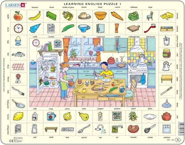 Engelsk ordförståelse köket pussel (Larsen)