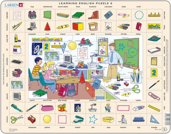 Engelska ord i skolan pussel (Larsen)